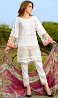 Three pcs embroidered suit