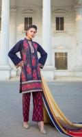Karandi Dyed And Embroidered Front  Karandi Embroidered And Dyed back  Karandi Dyed Sleeves  Printed Viscose Shawl