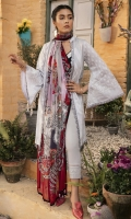 Printed Lawn Shirt 2.94 Meter Printed Chiffon Dupatta 2.55 Meter Dyed Cambric Trouser 2.50 Meter Embroidered Neck Patti 1 Meter Embroidered Sleeve Patti 1 Meter
