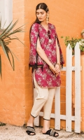 Printed Lawn Shirt 2.94 Meter Dyed Cambric Trouser 2.50 Meter