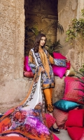 Printed Lawn Shirt 2.94M Printed Chiffon Dupatta 2.55M Dyed Cambric Trouser 2.50M Embroidered Trouser Border 1.25M