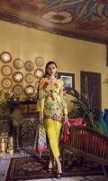 Printed Lawn Shirt 2.94M Printed Silk Dupatta 2.55M Dyed Cambric Trouser 2.50M Embroidered Sleeves Motifs 2