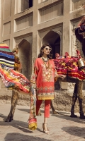 Printed Lawn Shirt 2.94M Printed Silk Dupatta 2.55M Dyed Cambric Trouser 2.50M Embroidered Neck 1