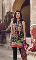 Printed Lawn Shirt 2.94M,  Printed Silk Dupatta 2.55M,  Dyed Cambric Trouser 2.50M,  Embroidered Neck 1