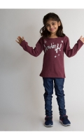 CUTE BURGUNDY FULL SLEEVES GIRL'S SWEATER