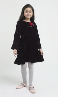 A Pretty Choice For Special Occasions, Our Handsewing Detail On Yoke Dress Is Designed In Gorgeous Velvet To Add Extra Charm To Our Pepperland Girl.