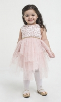 A Pretty Choice For Special Occasions, Our Crochet Lace Detail On Yoke Dress Is Designed In Gorgeous Glittered Net Add Extra Charm To Our Pepperland Girl.