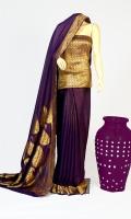 Maisori Chiffon Fabric of Saree With Paisley Style Embossed Zari Work, Blouse of Zarbafat Zari Work.