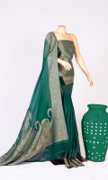 Maisori Chiffon Saree, Mehrab Border Line Style Anchal And Blouse of Zarbafat Zari Work.