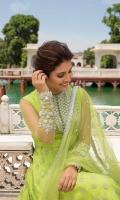 Pishwas Organza Front & Back. Net Embellished Sleeves Dupatta Net Dupatta Pajama Viscous Churidaar Pajama