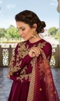 Pishwas Cotton Silk Embellished Front. Cotton Silk Embellished Sleeves Dupatta Organza Embroidered Dupatta Pajama Viscous Churidaar Pajama