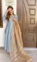 Shirt Raw Silk Embellished Front. Raw Silk Embellished Sleeves Dupatta Cotton Net Dupatta Pants Raw Silk Embellished Culottes Front & Back