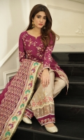 Shirt Raw Silk Embroidered Front & back Raw silk Embroidered Sleeves Dupatta Organza Heavily Embroidered Dupatta Shalwar Raw Silk Embroidered Shalwar