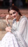 3 piece Hand woven mukaish dupatta Plain raw silk shirt Tilla booti skirt