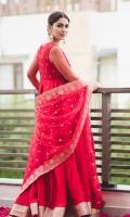 Pishwas Self Embossed Cotton Silk Embroidered Front & Back. Net Embellished Sleeves Dupatta Organza Embellished Dupatta  Pajama Viscous Churidaar Pajama