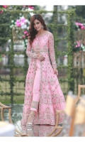 Upper: Pink gown with work as it is Lower: Pink raw silk pants