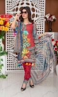 Printed Shirt Chikankarri Printed Dupatta Dyed Trouser