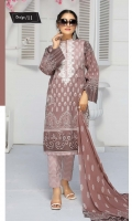 Embroidered Lawn Shirt Printed Chiffon Dupatta Dyed Trouser