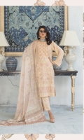 Embroidered Peach Leather Shirt Printed Wool Shawl Dyed Trouser