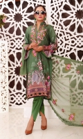 Embroidered Viscose Digital Print Shirt Embroidered Crinkle Chiffon Dupatta Dyed Trousar