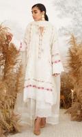 Ivory Butterfly Cross Stitch Shirt with Dupatta
