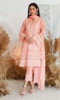Alyza Peach Cross Stitch Shirt and Dupatta