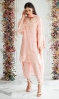 Blush Coral Silk Shirt and Dupatta
