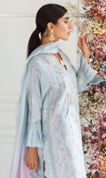 Powder Blue Silk Shirt and Dupatta