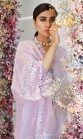 This stunning shade of pastel lilac is all you need to stand out this summer. Cut from pure cotton net, in a relaxed boxy silhouette and adorned with delicately blooming florals in intricate cross stitch, this will become your go to for any manner of occasion. Pair with high heels and statement jewellery to dress it up for a dinner or some flats to keep it easy for a day soiree!!