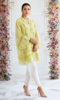 This stunning shade of pastel kiwi is all you need to stand out this summer. Cut from pure cotton net, in a relaxed boxy silhouette and adorned with delicately blooming florals in intricate cross stitch, this is will become your go to for any manner of occasion. Pair with high heels and statement jewelry to dress it up for a dinner or some flats to keep it easy for a day soiree!!