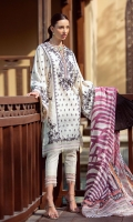 * Shirt Front Exclusively Weaved and Embroidered Jacquard * Shirt Back Exclusively Weaved Jacquard * Sleeves Exclusively Weaved and Embroidered Jacquard * Trouser (Jacquard) * Digitally Printed Dupatta (Jacquard)