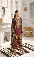 PRINTED LAWN FRONT PRINTED BACK & SLEEVES PRINTED SILK DUPATTA EMBROIDERED NECKLINE PATCH EMBROIDERED TROUSER PATCH DYED CAMBRIC LAWN TROUSER