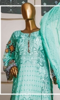 Digital Print Shirt Front With Embroidery. Digital Print Back and Sell-eves. Printed Trousers Chicken Kari Crinkle Dupatta.