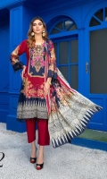 Digital Printed and Embroidered Lawn Shirt Digital Printed Lawn Dupatta Dyed Cambric Trouser