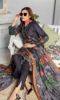 Embroidered Slub Linen Shirt Printed Linen Dupatta Dyed Trouser