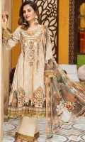 Digital Printed Embroidered Front  Digital Printed Back and Sleeves  Digital Printed Chiff on Dupatta  Dyed Cambric Trouser