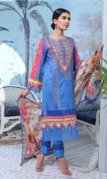 Lawn Digital Print Embroidered Shirt Front1.30 yards Digital Print Shirt Back and Sleeves2.00 yards Digital Print Bamber Chiffon Dupatta2.75 yards Dyed Cambric Trouser2.65 yards
