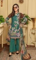 Digital Printed Embroidered Lawn Shirt Digital Printed Chiffon Dupatta Dyed Trouser
