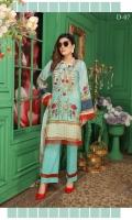 Digital Printed with Embroidered Karandi Shirt Digital Printed Cut Work Crincal Chiffon Dupata Dyed Trouser