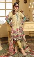 Embroidered Viscose Digital Print Shirt Embroidered Chiffon Dupatta Dyed Trousar
