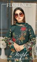 Linen Embroidered Shirt Digital Printed Chiffon Dupatta Dyed Bottom