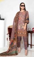 Digital Printed Embroidered Stapple Karandi Shirt Digital Printed Chiffon Dupatta Dyed Trouser