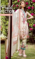 Digital Printed Embroidered shirt: 3.00 mtr  Trouser: 2.50 mtr  Pima Lawn Voil Dupatta: 2.5mtr     Add On  Trouser Patch:2pcs