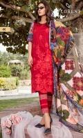 Digital Printed Embroidered shirt: 3.00 mtr  Trouser: 2.50 mtr  Pima Lawn Voil Dupatta: 2.5mtr