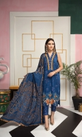 Self jacquard lawn shirt 3mtr  Cambric trouser 2.5mtr  Brosha jacquard dupatta 2.5mtr  ADD ON: Embroidered front back and sleeves- Embroidered border: 1pc