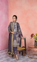 Front back brosha jacquard shirt  2mtr  Dyed sleeves 0.75 mtr  Cambric trouser 2.5mtr  Yard dyed fancy zari dupatta  2.5mtr  ADD ON: Embroidery on sleeves – Embroidered neckline patch: 1pc -Embroidered border: 1pc