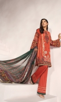 Masori lawn dyed shirt 3.25 mtr  Cambric trouser 2.5 mtr  Digital printed chiffon dupatta 2.5 mtr  ADD ON:  Embroidery on shirt and sleeves