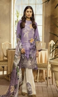Digital Printed Embroidered Shirt: 3 mtr Trouser: 2.5 mtr Chiffon Dupatta: 2.5 mtr   Add On Embroidered lace: 1mtr Embroidered Border: 1Pc
