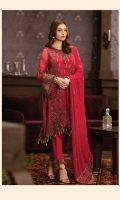 3pc embroidered chiffon suit