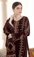 Shirt: Velvet (Screen Printed) Shirt color:Dark Maroon Trouser: Silk Shawl: Velvet (Screen Printed)